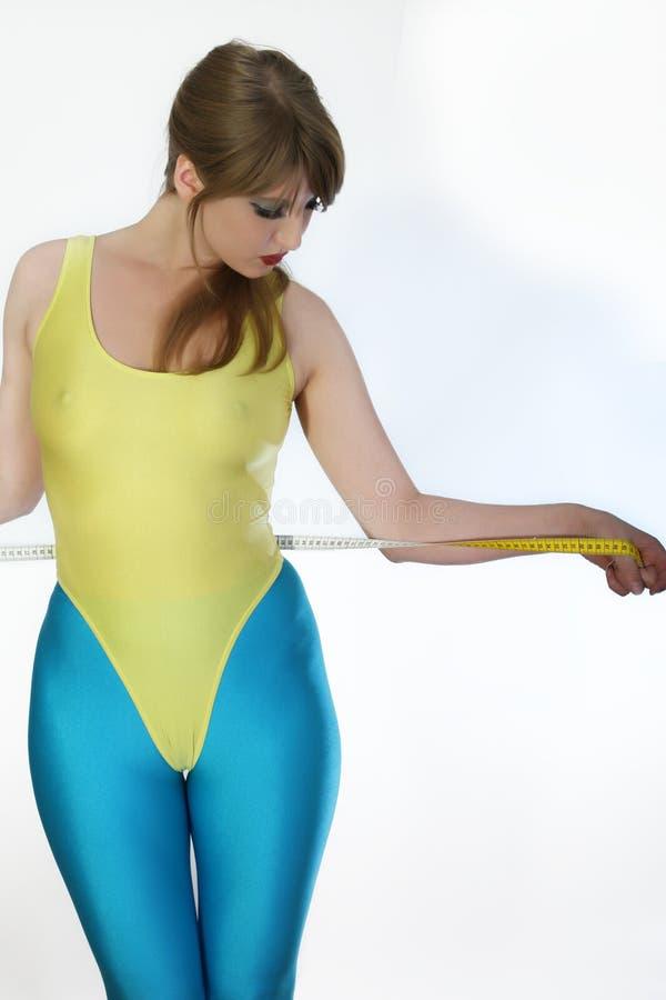 женщина ленты пригодности стоковое изображение
