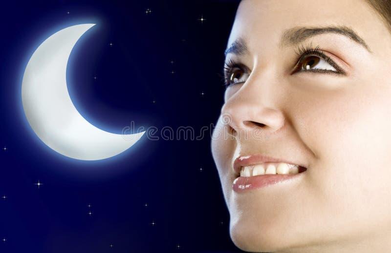женщина луны стоковые изображения rf