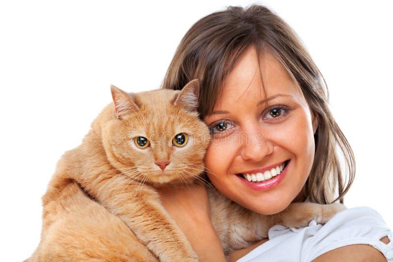 женщина Мейна енота кота серебряная стоковые изображения