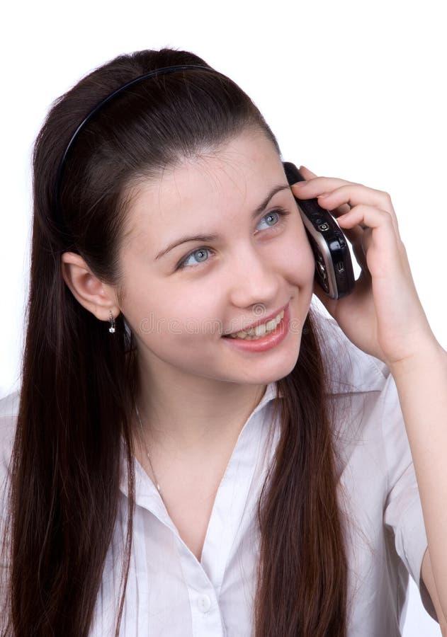 женщина мобильного телефона стоковое фото rf
