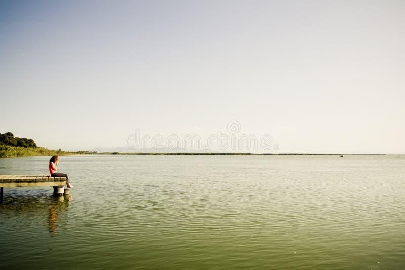 женщина моста стоковые изображения rf