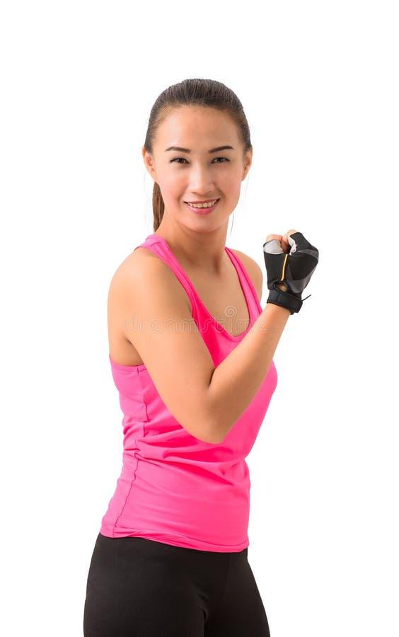 женщина модельного multi портрета азиатской девушки пригодности камеры предпосылки красивейшей кавказской женской свежей счастлив стоковое изображение rf