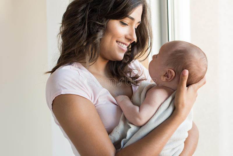 женщина младенца newborn стоковые фотографии rf