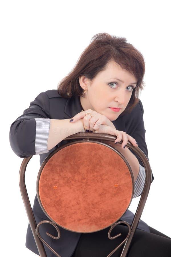 Женщина на стуле стоковая фотография