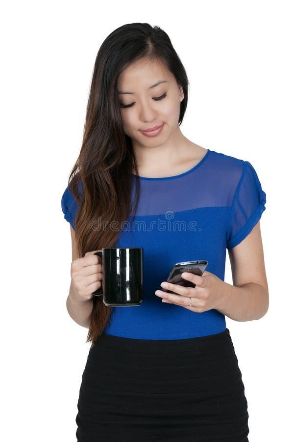 Женщина на телефоне стоковое изображение rf