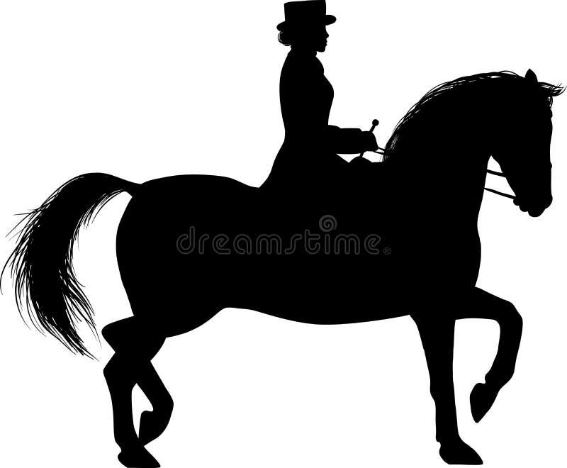 Женщина на horseback бесплатная иллюстрация