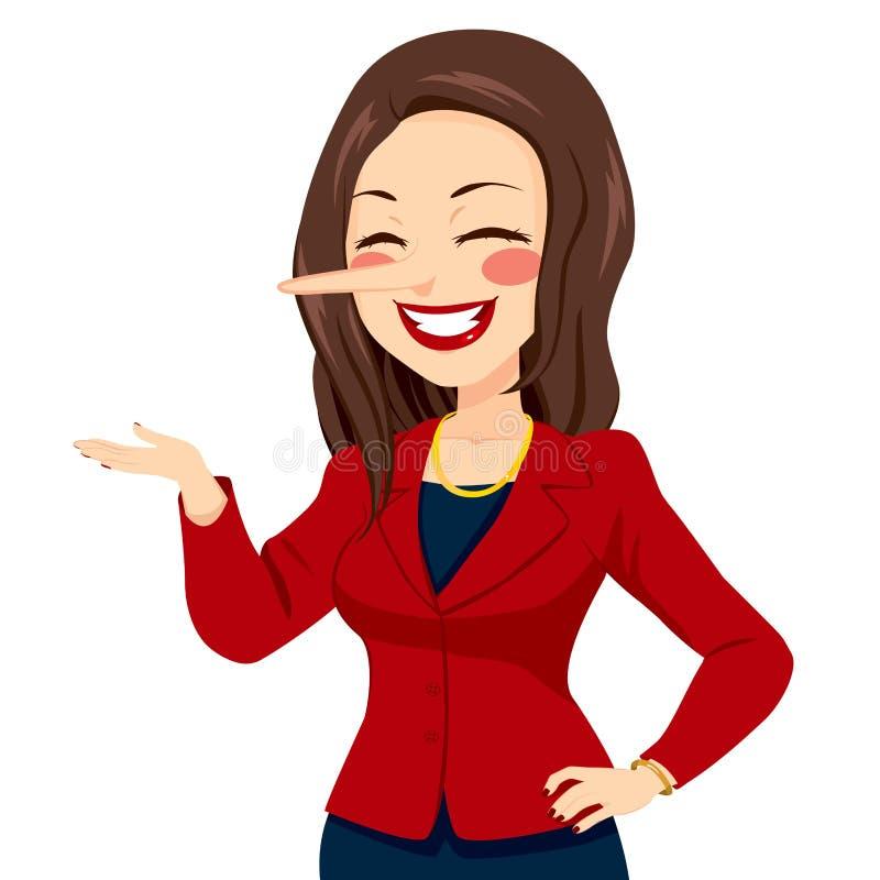 Женщина носа лжеца иллюстрация вектора