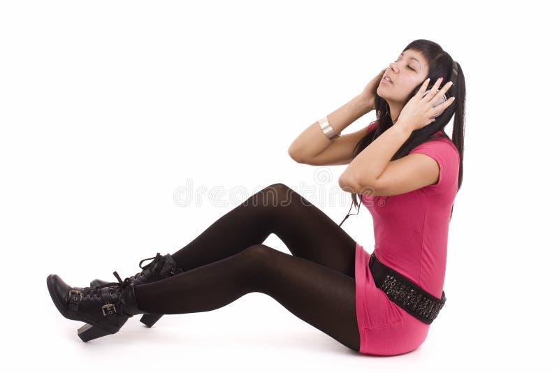 женщина нот ощупывания Стоковые Изображения RF