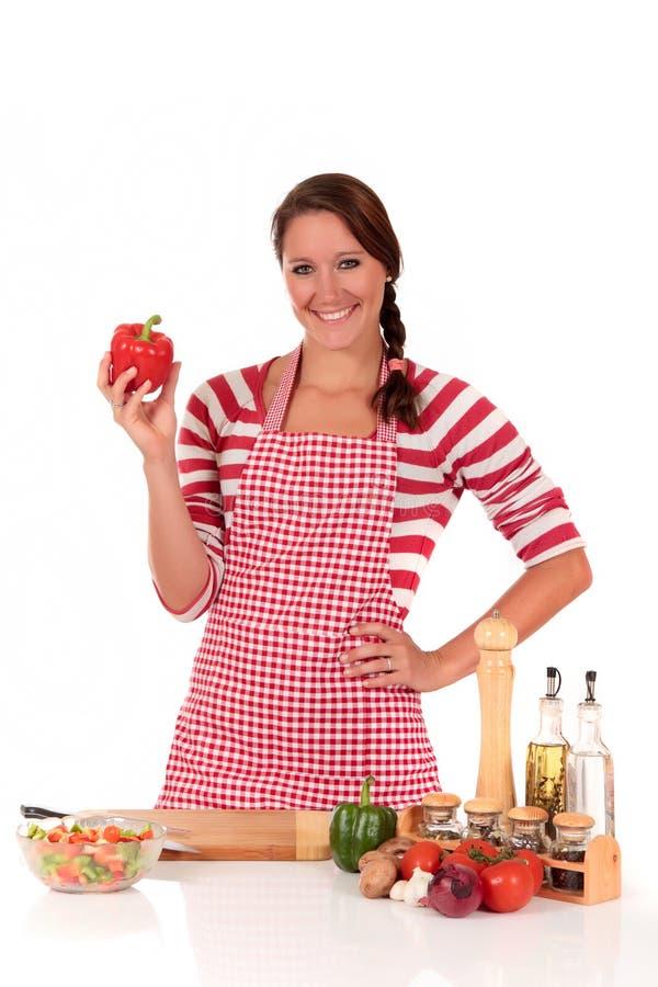 женщина овощей кухни стоковые фотографии rf