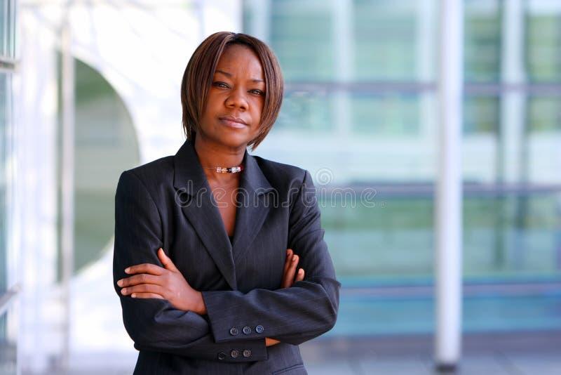 женщина офиса афроамериканца стоковые фотографии rf