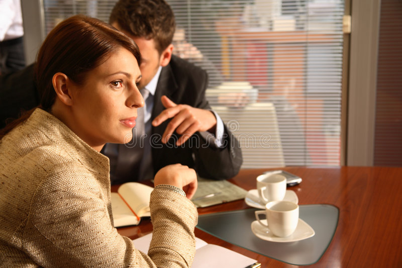 женщина офиса бизнесмена стоковая фотография