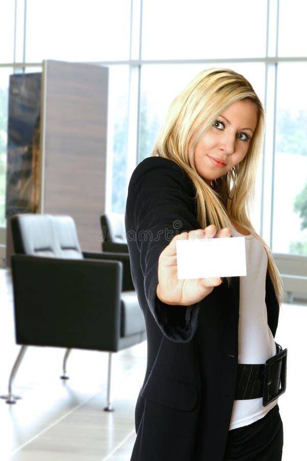 женщина офиса карточки стоковые изображения