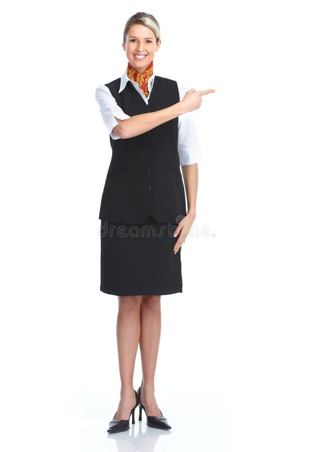женщина официантки стоковое фото