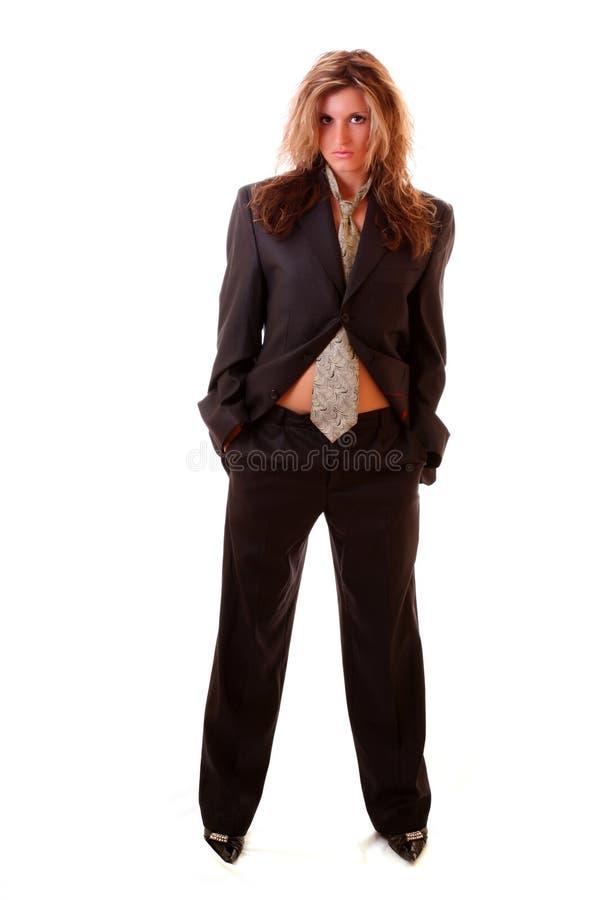 женщина пакета Майкрософт Офиса стоковое изображение rf