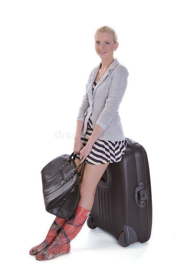 женщина перемещения стоковое фото