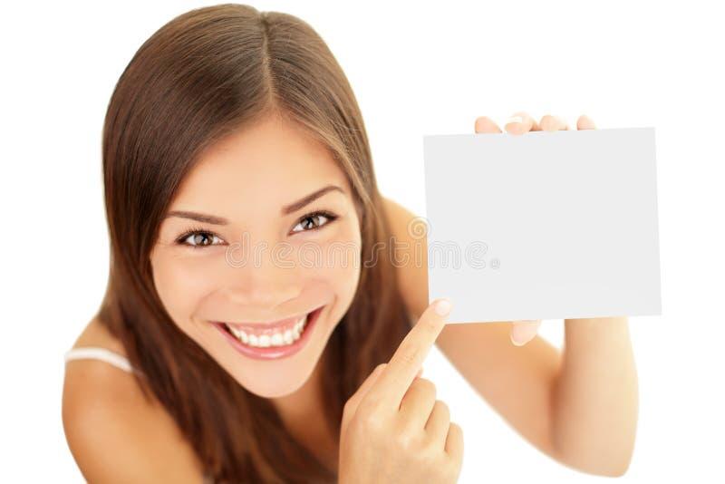 женщина подарка карточки стоковое фото rf