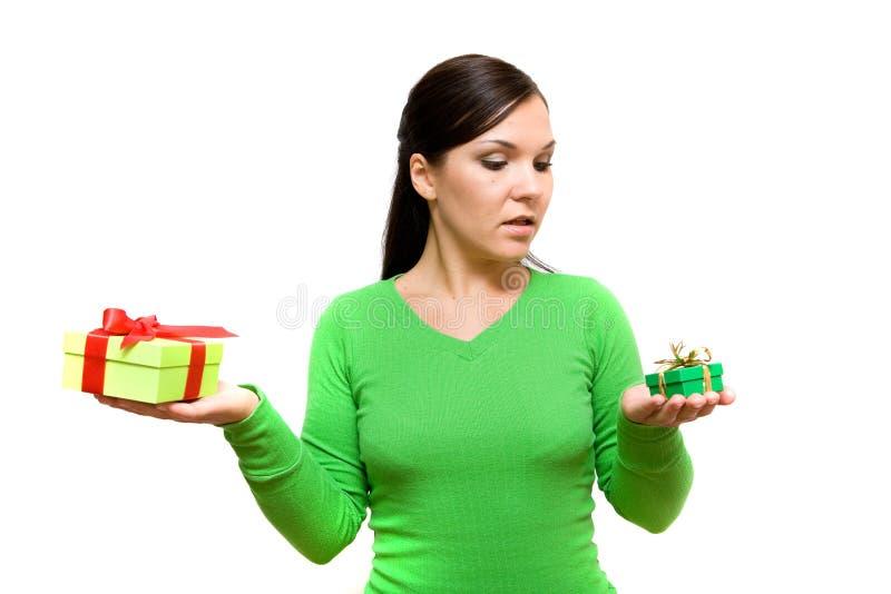 женщина подарка стоковые фотографии rf