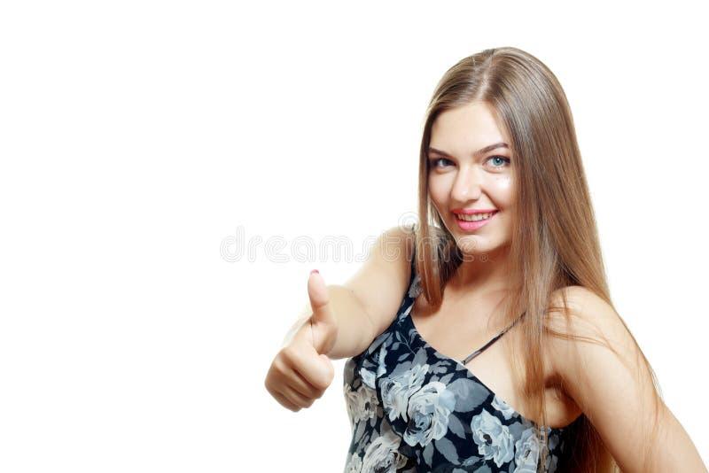 Женщина показывая О'КЕЫ стоковое изображение rf