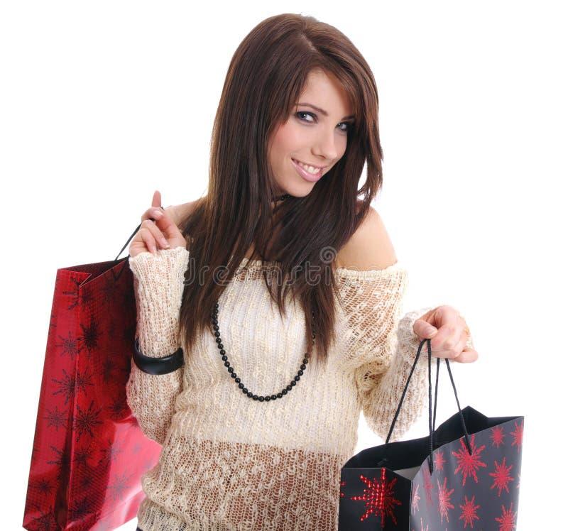 женщина покупкы мешка сексуальная стоковые изображения