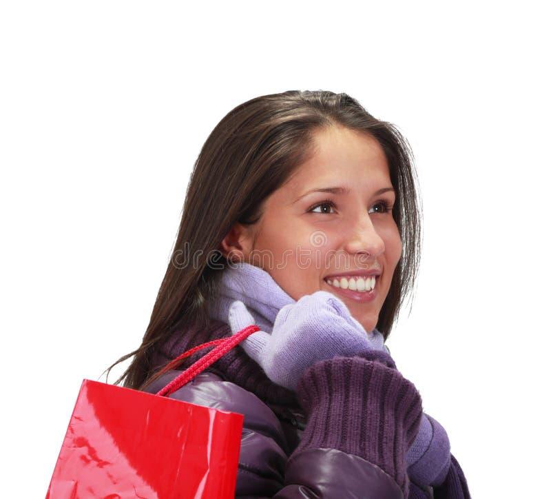 женщина покупкы мешка Стоковые Фото