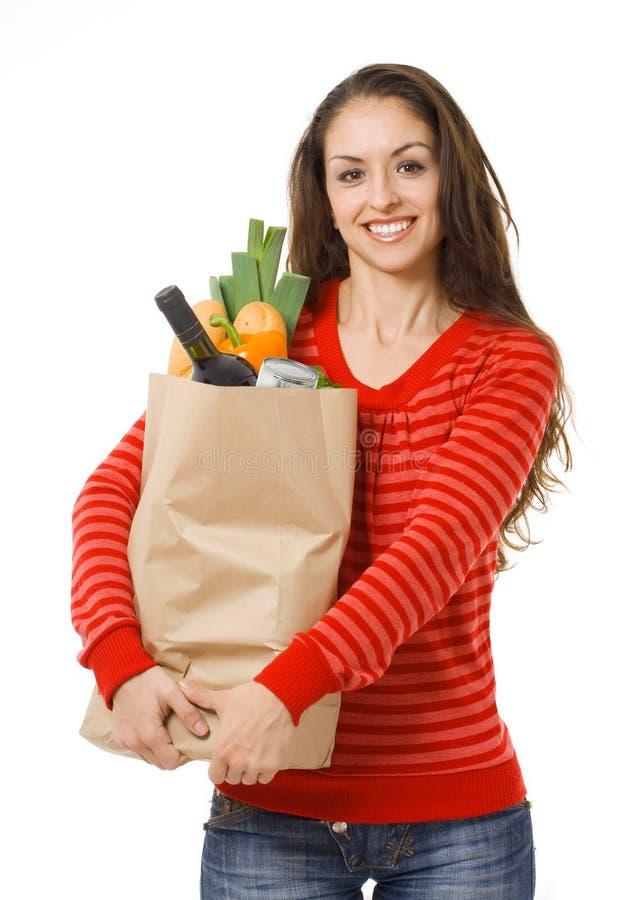 женщина покупкы мешка стоковая фотография rf