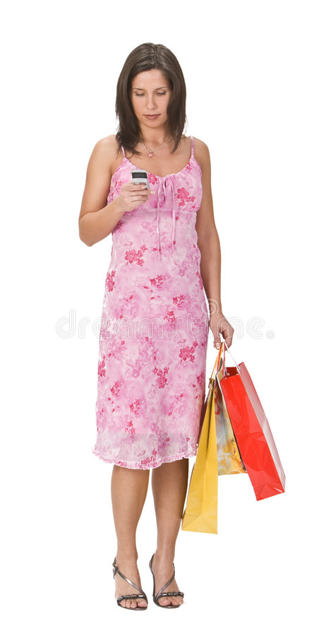 женщина покупкы стоковое изображение rf