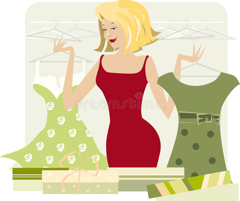 женщина покупкы иллюстрация штока