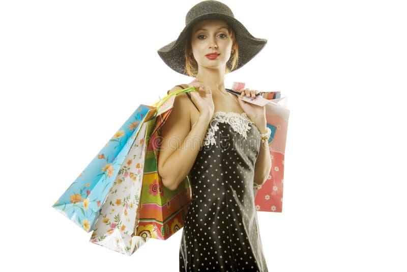 Download женщина покупкы стоковое фото. изображение насчитывающей довольно - 6866476