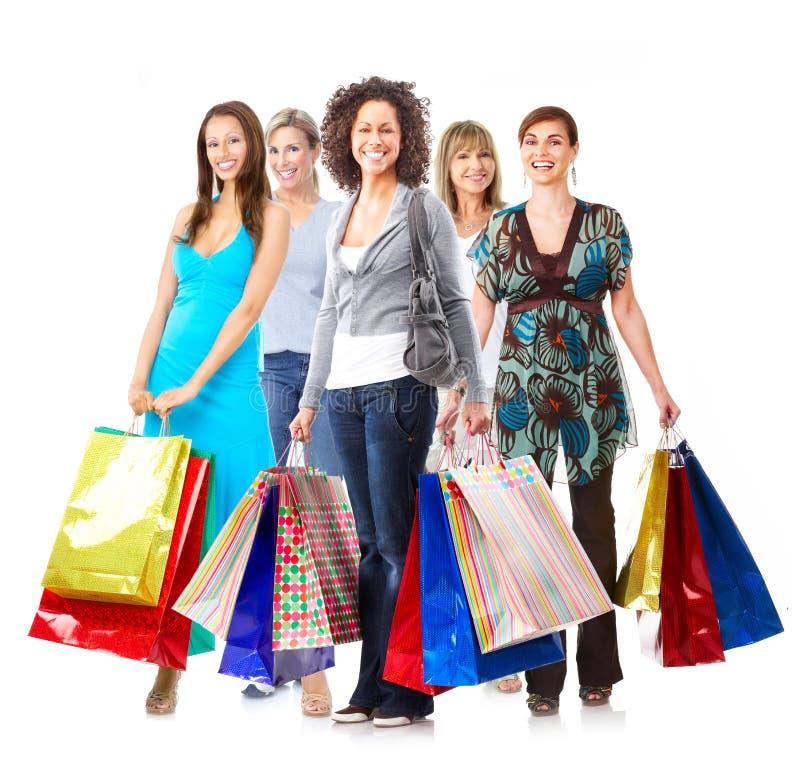 Женщина покупок стоковые изображения