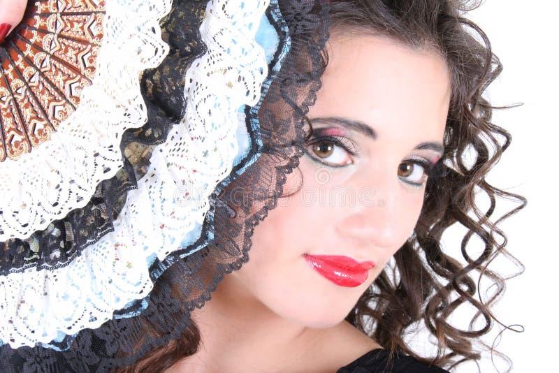 женщина портрета вентилятора стоковое фото