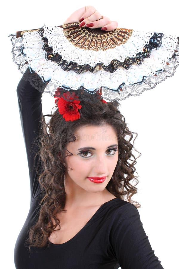 женщина портрета вентилятора стоковая фотография