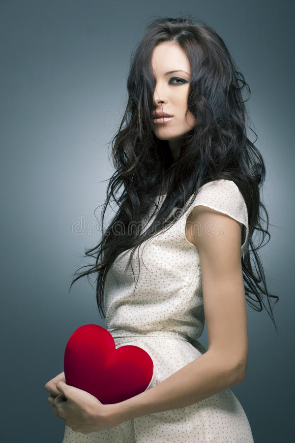 женщина портрета красивейших волос совершенная стоковая фотография rf