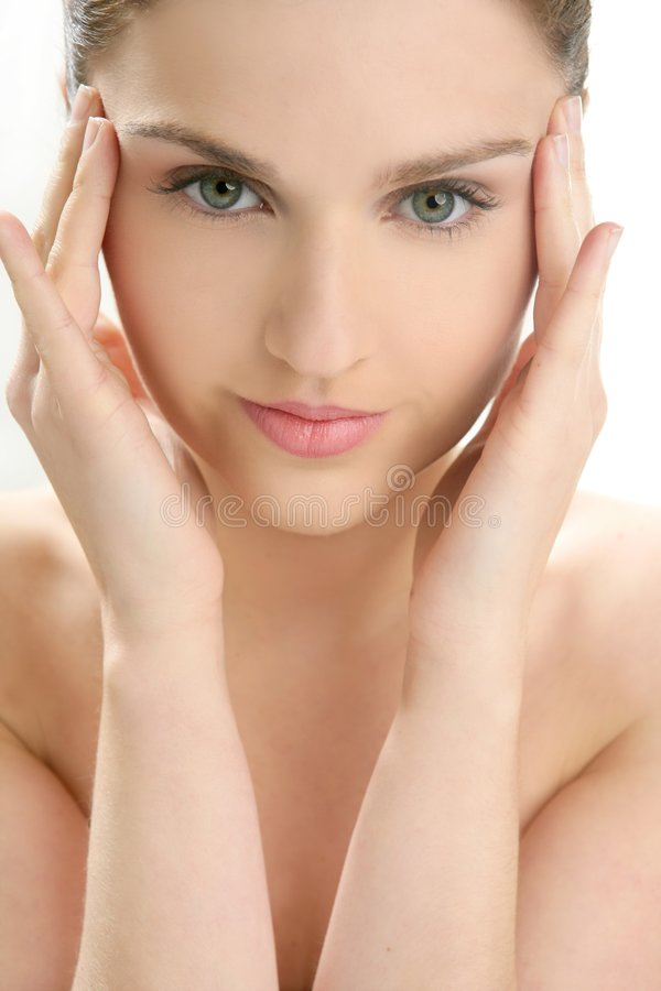 женщина портрета красивейших рук головная стоковое фото rf