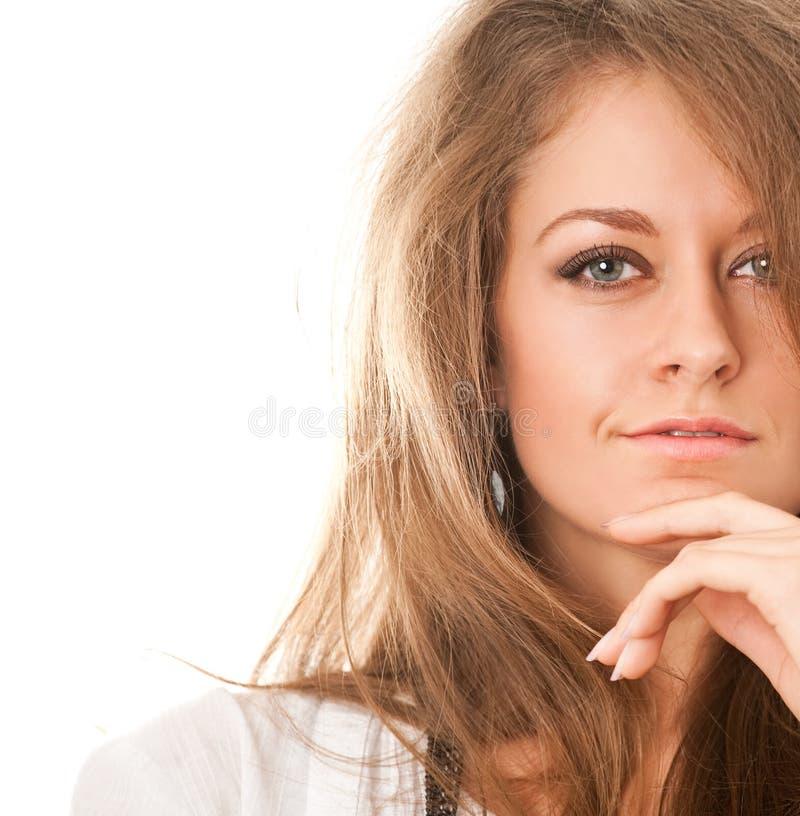 женщина портрета крупного плана стоковая фотография