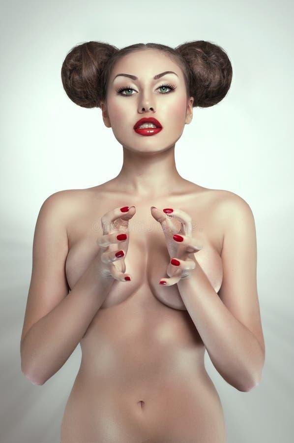 женщина портрета обнажённого сексуальная стоковые фотографии rf