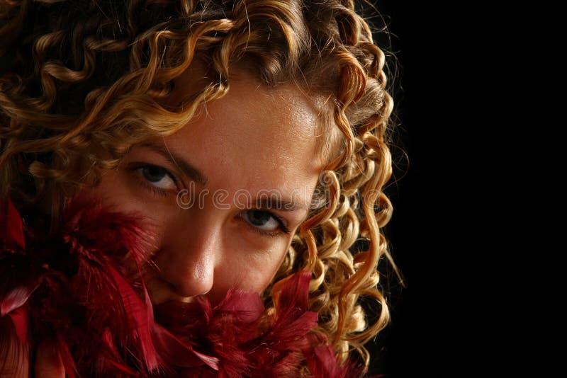 женщина портрета сокращая стоковая фотография rf
