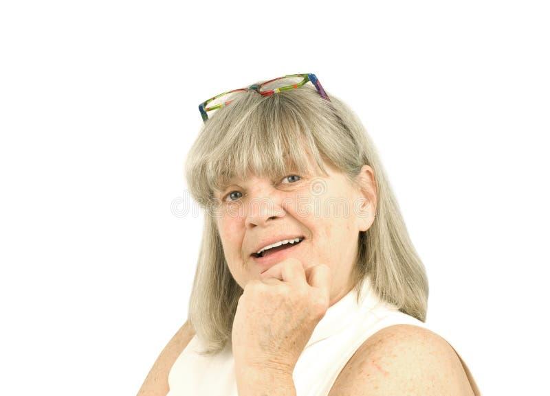 женщина портрета старшая сь стоковое фото rf