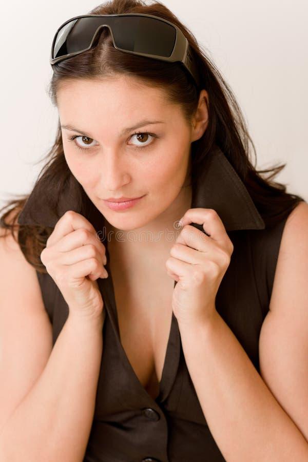 женщина портрета стекел способа конструктора стоковое изображение