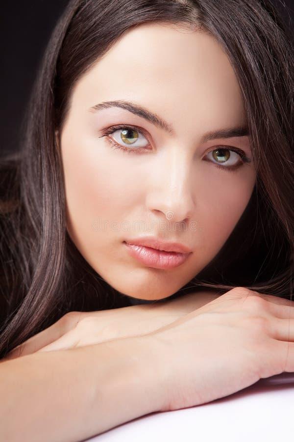 женщина портрета стороны глаз чувственная стоковая фотография
