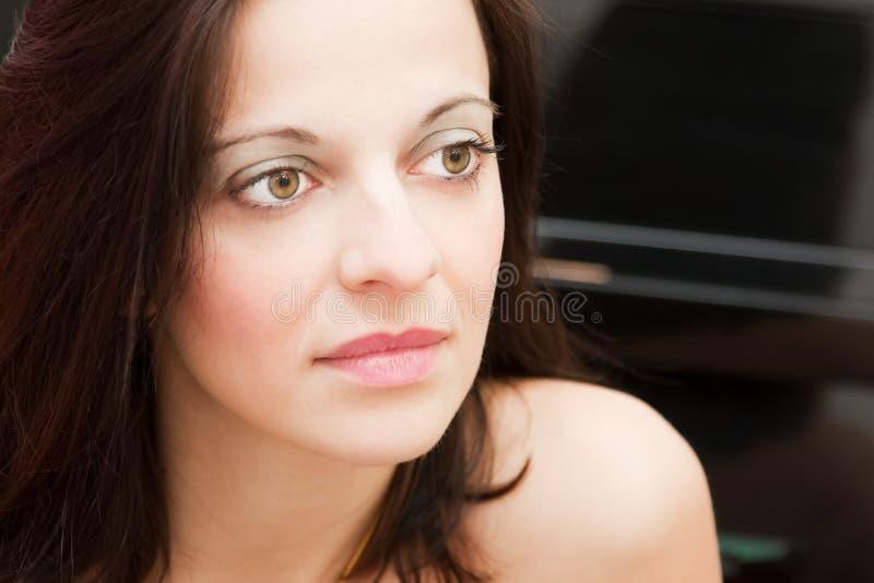 женщина портрета унылая стоковое фото rf