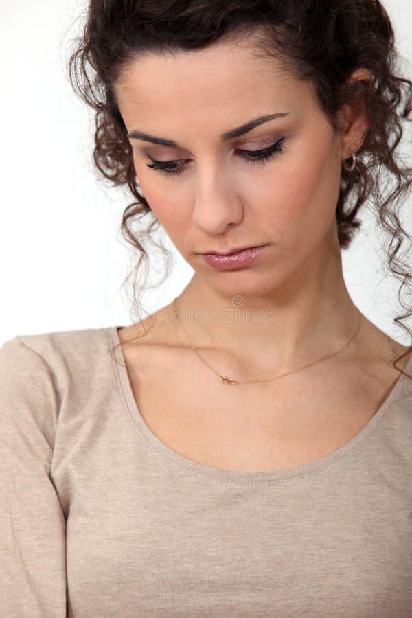 женщина портрета унылая стоковая фотография rf