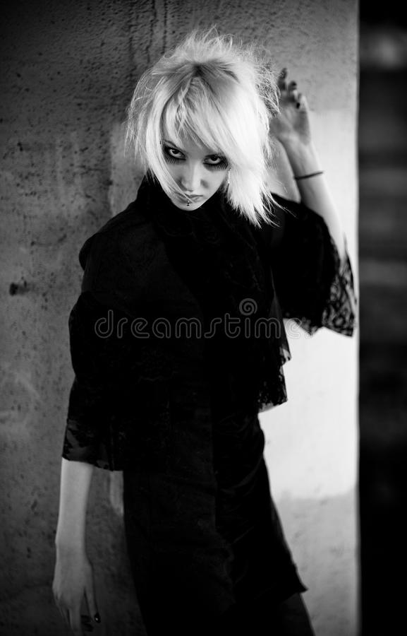 женщина портрета goth стоковое фото rf