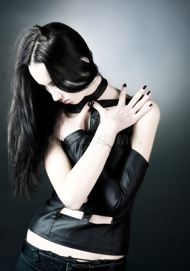женщина портрета goth стоковая фотография