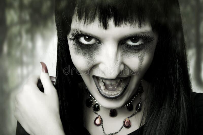 женщина портрета halloween способа принципиальной схемы стоковая фотография