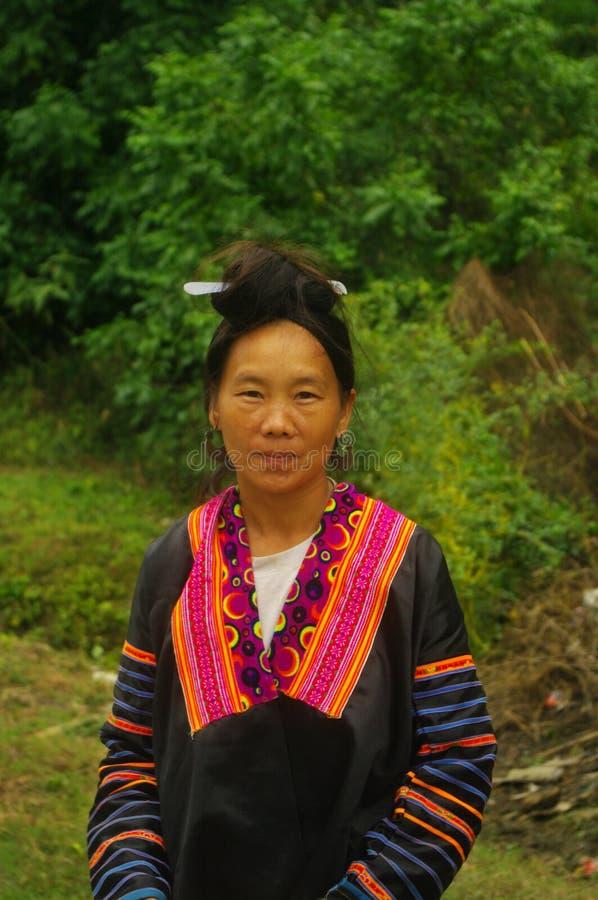 женщина портрета lai hmong chau зоны стоковая фотография rf