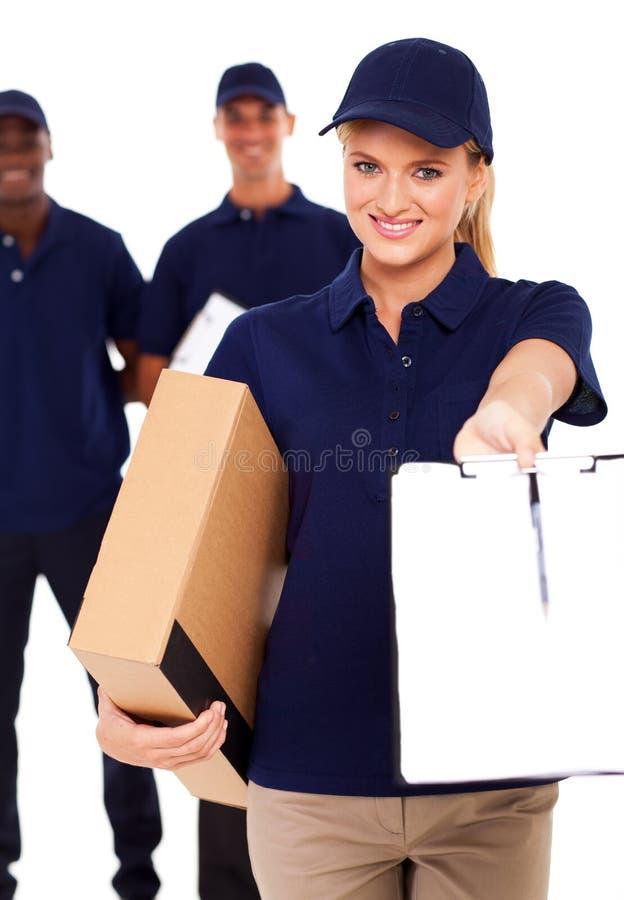 Женщина поставки стоковые фотографии rf