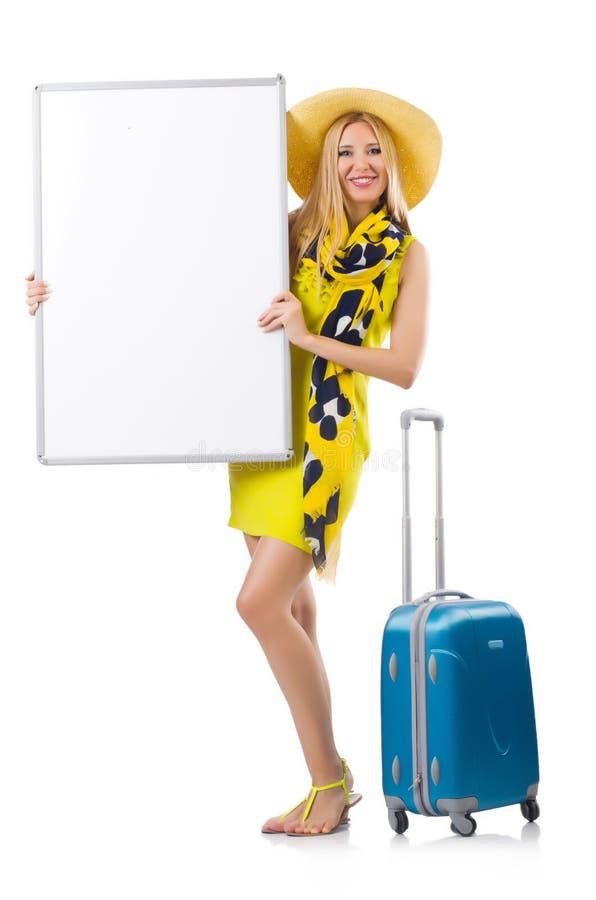 Женщина подготавливая на каникулы стоковая фотография