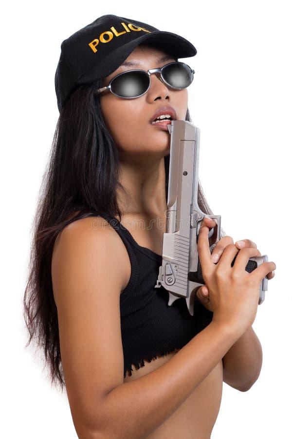 Женщина полиций стоковая фотография