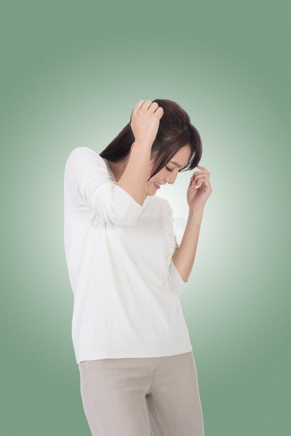 Женщина под нападением стоковая фотография rf