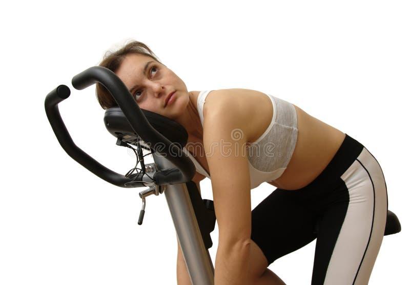 женщина пригодности утомленная стоковая фотография rf